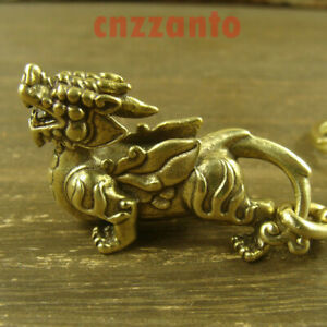 Solid Brass Mythical Animals for lucky Key chain keychain ring pendant H554