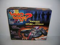 1998 Tiger Electronics Who Done It? The Electronic Game of Crime & Evidence NIB