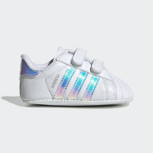 Newborn Adidas Originals Superstar Crib Shoes (BD8000)  White // White-Black
