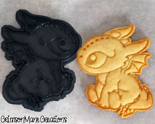 Baby Dragon Cookie Cutter DIY Biscuit Stamp Baking Tool Ceramics and Pottery
