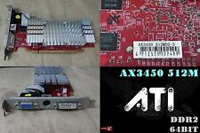 PowerColor Radeon HD 3450 512 MB DDR2, AX3450 512MD2-S ,Dvi-I , VGA, S-VIDEO
