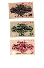 Schleusingen Notgeld 3 Scheine. Los 928. schoeniger-notgeld