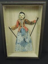 Thai Shadow Stick Puppet Framed Thai Nang Yai Woman #1