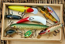 Assorted vintage American lures-,Gudebrod,Cisco Kid,South Bend,Lucky Strike
