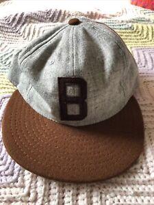 Joe Louis Brown Bombers Cap - Ebbets Field Flannels - Negro League Baseball NWT
