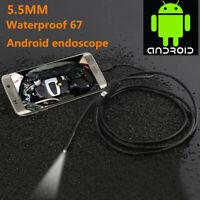Androide Smartphone F8S6 IP67 6LED 5.5mm Endoscopio Ispezione Telecamera USB