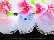 Lovely ruffled lace trim with ribbon - price by the yard /select color/