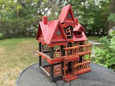 "Vintage Handmade Bird House Cage 19"" x 14"" x 19"""