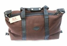 Carpet Bag Holdall Wombat Bag Leather and Wax Canvas Mens Bag Zipped  CW2