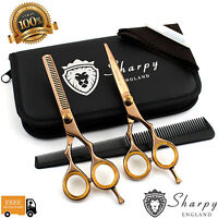 Hairdressing Scissors Barber Hair Cutting Barber Shears Titanium ROSE GOLD 5.5""