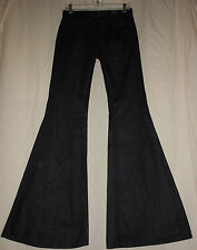 7 for All Mankind USA 25 Dark Denim Stretch Bell Bottom Jeans 70s Disco 25X33