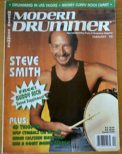 Modern Drummer Magazine February 1993 Steve Smith, Ed Thigpen