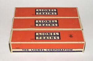 High Grade Set of 3 Lionel Passenger Car BOXES ONLY 2400 2401 2402 (DAKOTApaul)