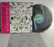 Led Zeppelin III no. 3 LP 1st press Japan 1970