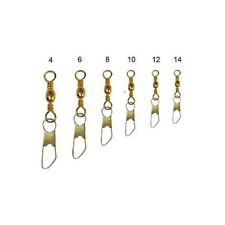 Fishing Swivels Brass with Carabiner N14 Conf 50PZ