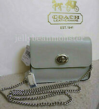 COACH 57714 BOWERY FLAP LEATHER SMALL CROSSBODY SHOULDER BAG Pale Green