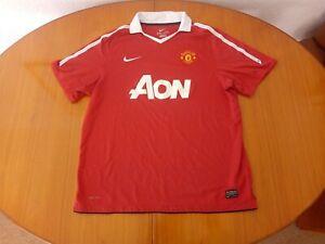 Manchester United Shirt XL 2010 2011 Nike AON Man U Utd 2010/11