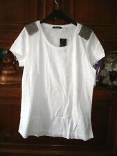 Damen - Shirt ,Trendiger Hinkucker mit edlen Perlen  Gr. L
