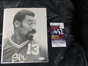 Wilt Chamberlain Autographed PHOTO JSA Certified