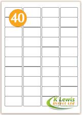 x100 40 per A4 Printer Labels Self Adhesive Stickers L7654 – J8654