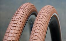 "700x38 Antique Red / Brown 29er Schwalbe LBB Bicycle Tires 28"" Wood Wheel Bike"