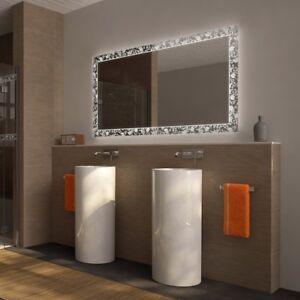 Badspiegel mit Beleuchtung Foglia · LED Kristallspiegel nach Maß · EEK: A++