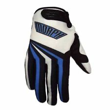 MORPH Racing - motocross mx atv dirt bike mtb moto bmx- White Blue MEDIUM gloves