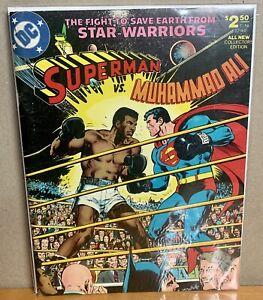 Superman vs. Muhammad Ali 1978 C 56 32180 Treasury Edition Comic W/ Bag & Board