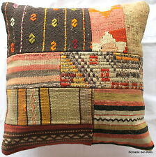 (50*50cm, 20 inch) Turkish handwoven kilim cushion cover patchwork #1