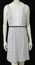 Beautiful Designer Ladies VERA WANG LAVENDER LABEL White Eyelet Dress 8/42