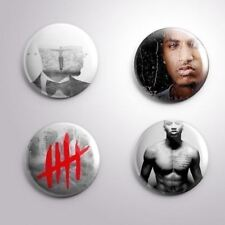 4 TREY SONGZ -  Pinbacks Badge Button 25mm 1''..