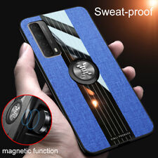 For Huawei P Smart 2021 Pro 2019 P Smart Z Cloth Case Magnetic Ring Holder Cover