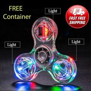 Crystal Luminous LED light Fidget Spinner Hand Top Spinner Stress Relief Toys