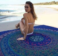 Indian Ombre Mandala Tapestry Hippie Wall Hanging Large Bedspread Blanket Throw