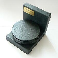 Posavasos de Pizarra, Box Conjunto de 6, acabado ennegrecido galés pizarra