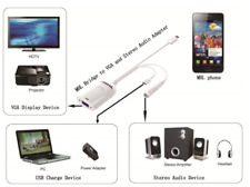 Mobile High-Definition Link Adaptor (MHL) Bridge to VGA and Stereo Audio Adapter