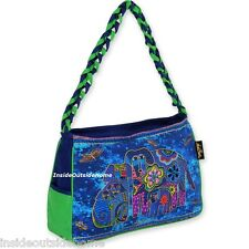 Laurel Burch Canine Family Dog Butterfly ML Hobo Shoulder Tote Bag NEW