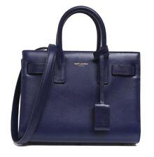 New $2750 Saint Laurent Blue Sac De Jour Leather Baby Messenger Bag