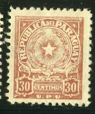 D117413 Paraguay VFU, Very fine used Early issue, Coat of Arms UPU 30c