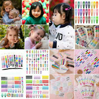 24Pcs/Set Candy Color Barrettes BB Clips Hairpins Snap Hair Clip for Kids Girls