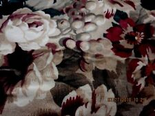 """BEAUTIFULFLORAL TABLECLOTH--LARGE FLOWERS & GRAPES--90"""" X 63""""--#B2A"""