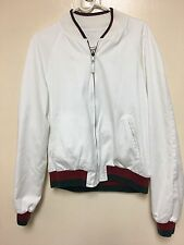 Gucci Bomber Reversible Jacket 50 Medium White