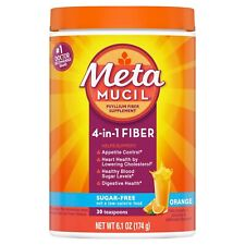 Metamucil 4-in-1 MultiHealth Sugar-Free Fiber Supplement Powder, Orange