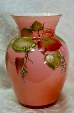 Fenton, Vase, Coral Overlay, Centennial Collection 2002, Limited Edition.