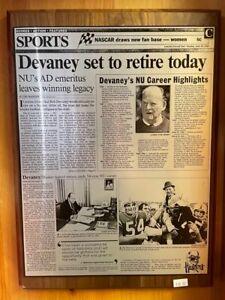 "Bob Devaney ""retires"" vintage wooden plaque - Nebraska Cornhuskers **RARE**"