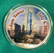 2004 Colorized Silver Eagle ASE Freedom Tower 9-11 .999 1 oz Silver coin