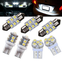 1 Set LED Bulb License Interior Package Kit T10 & 30mm 31mm White Festoon Lights