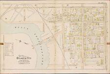 1896 ATLANTIC CITY NEW JERSEY, BEACH THOROUGHFARE - ATLANTIC AV ATLAS MAP