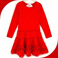 NWT HANNA ANDERSSON VELOUR TUTU LOVE TO TWIRL DRESS APPLE RED 120 7