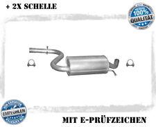 Mittelschalldämpfer Audi A3, A3 Sportback 1.4 FSI 1.6 FSI  Auspuff Schelle